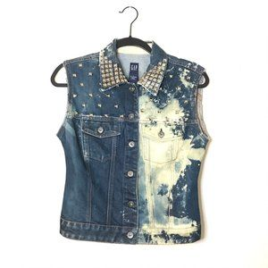 Gap Bleached Studded Denim Vest
